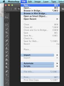 Setting Up Photoshop Workspace