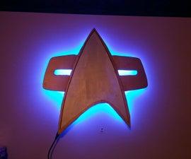 Backlit Star Trek Combadge Wall Decoration