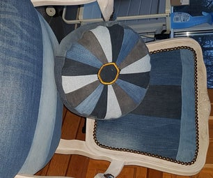 Restore and Transform an Old Chair With Old Jeans