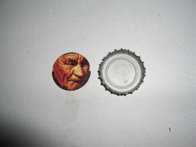 Cut Your Image to Fit the Bottlecap.