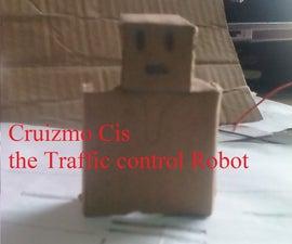 Cardboard Traffic Control Robot