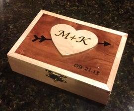 Valentine's Day Wooden Box