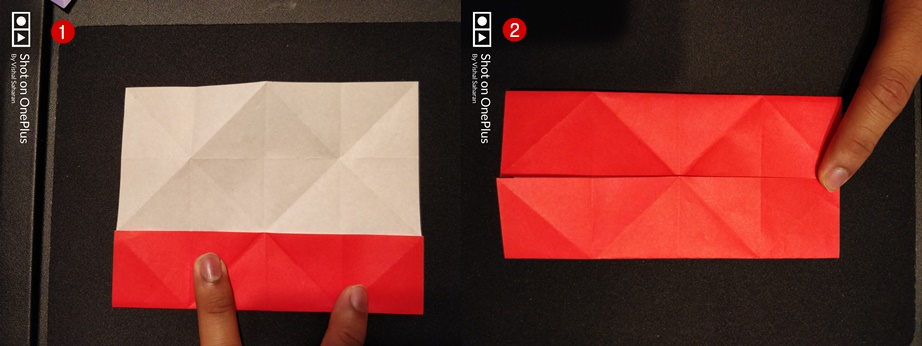 Picture of Fold the Top and Bottom to the Center.