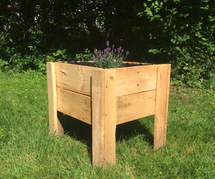 Pallet Wood Flower Box Planter