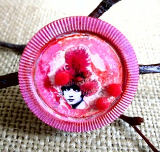 Pink Carnation Pixie Brooch