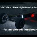 36V 32Ah Li-ion Battery for an Electric Longboard