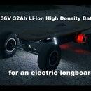 36V 32Ah Li-ion Battery for an Electric Longboard