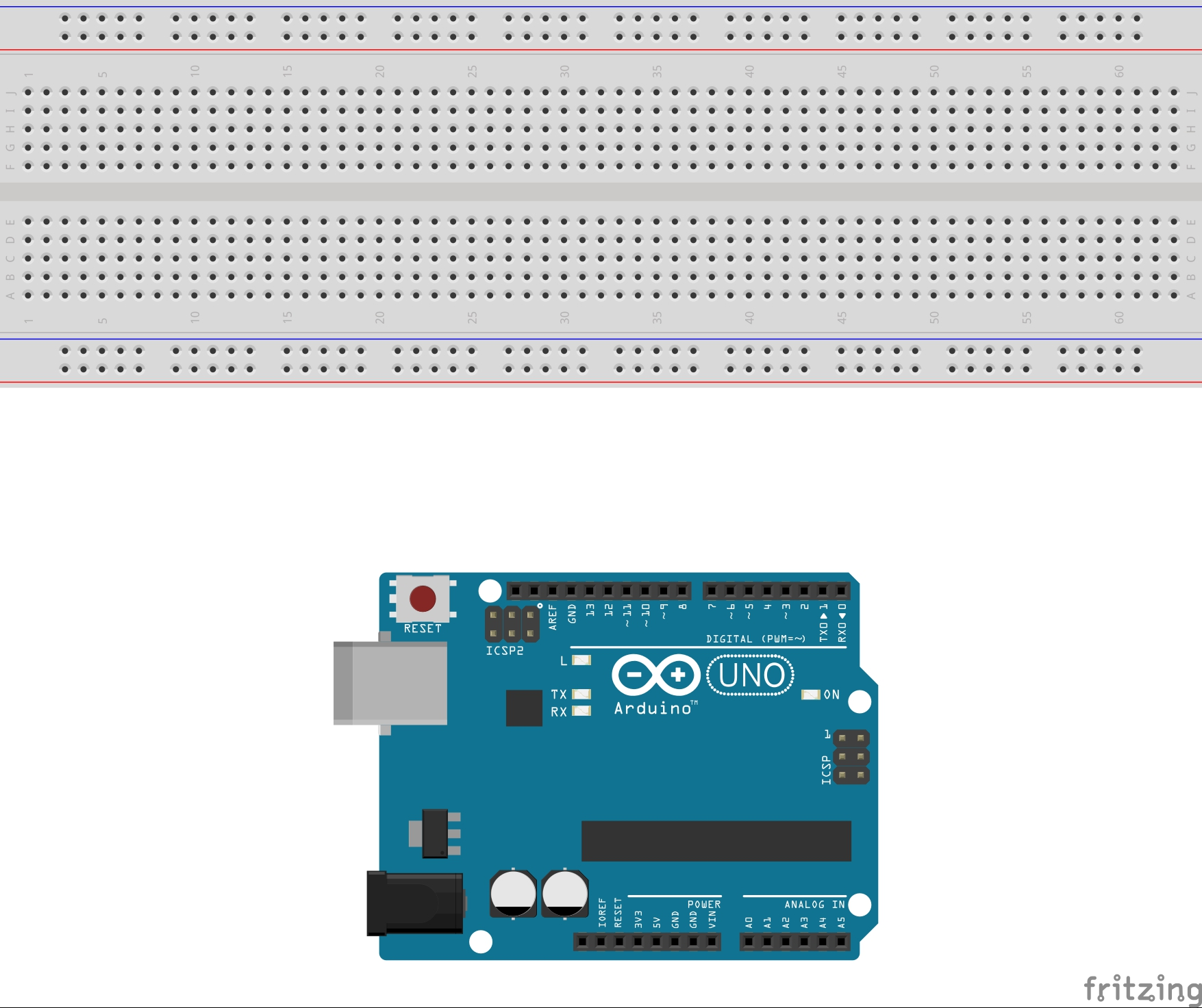 Picture of Set Up Arduino Uno and Breadboard