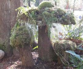 Make a Moss Mushroom: Yard Art