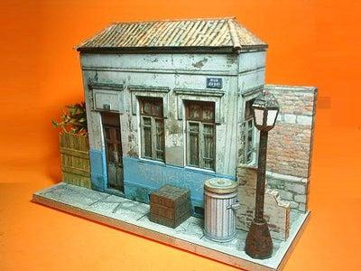 Brazilian Abandoned House Paper Model