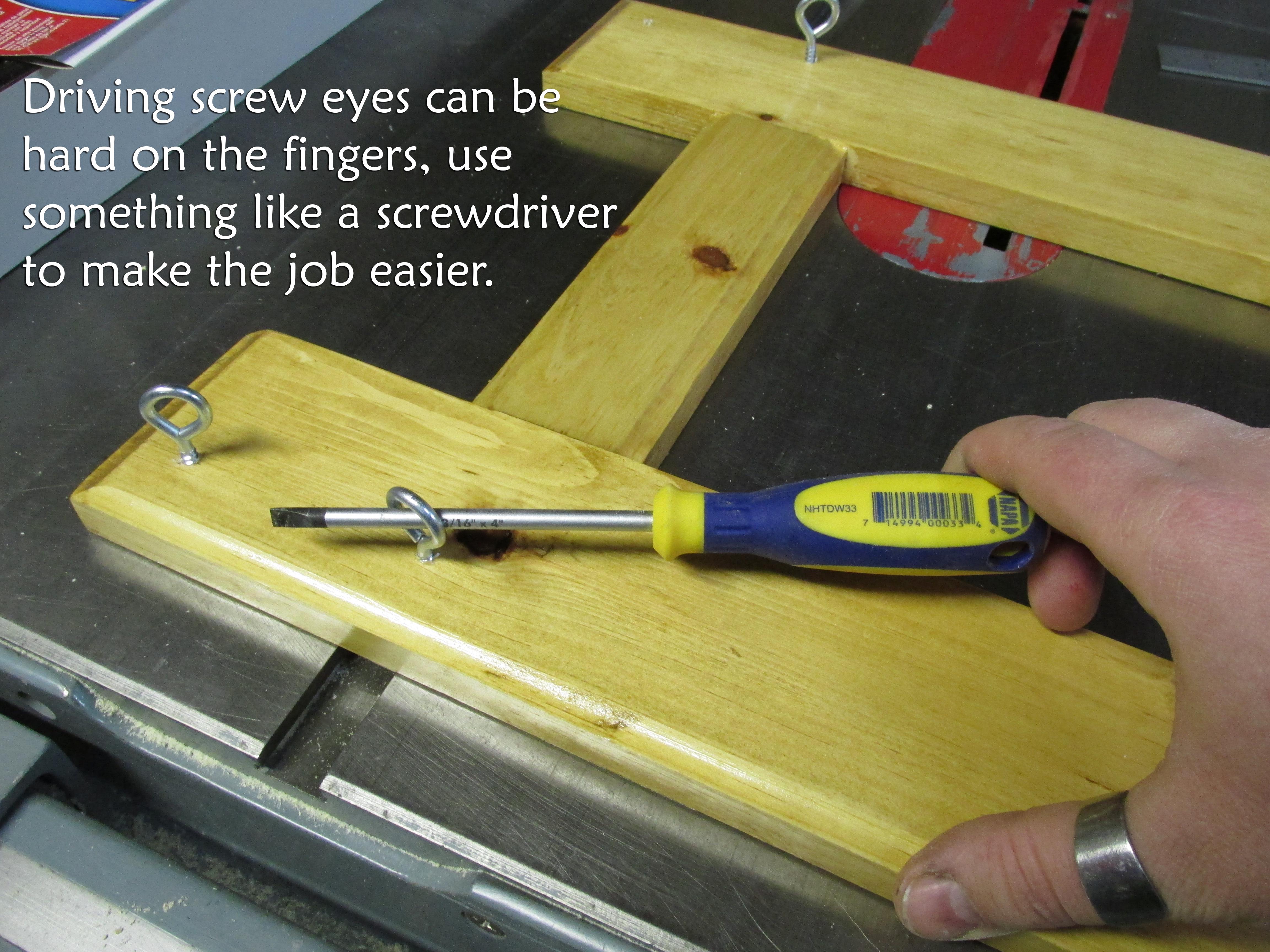 Picture of Installing Eye Screws