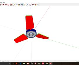 风扇设计Fidget旋转器