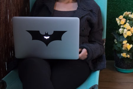 Laser-cut Laptop Stickers for MacBook and PC (6 Free Designs)