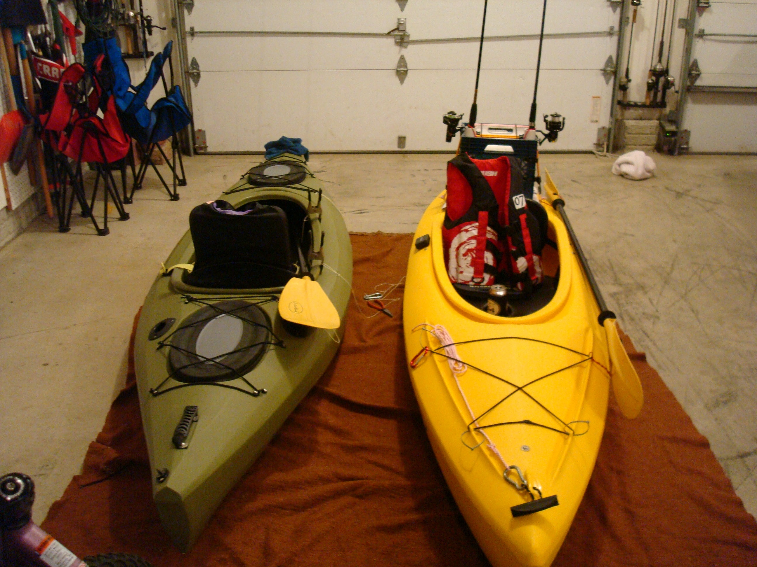Rigging A Sink Sit In Kayak For Fishing 4 Steps With Pictures Instructables