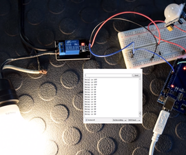 PIR Controlled Relay