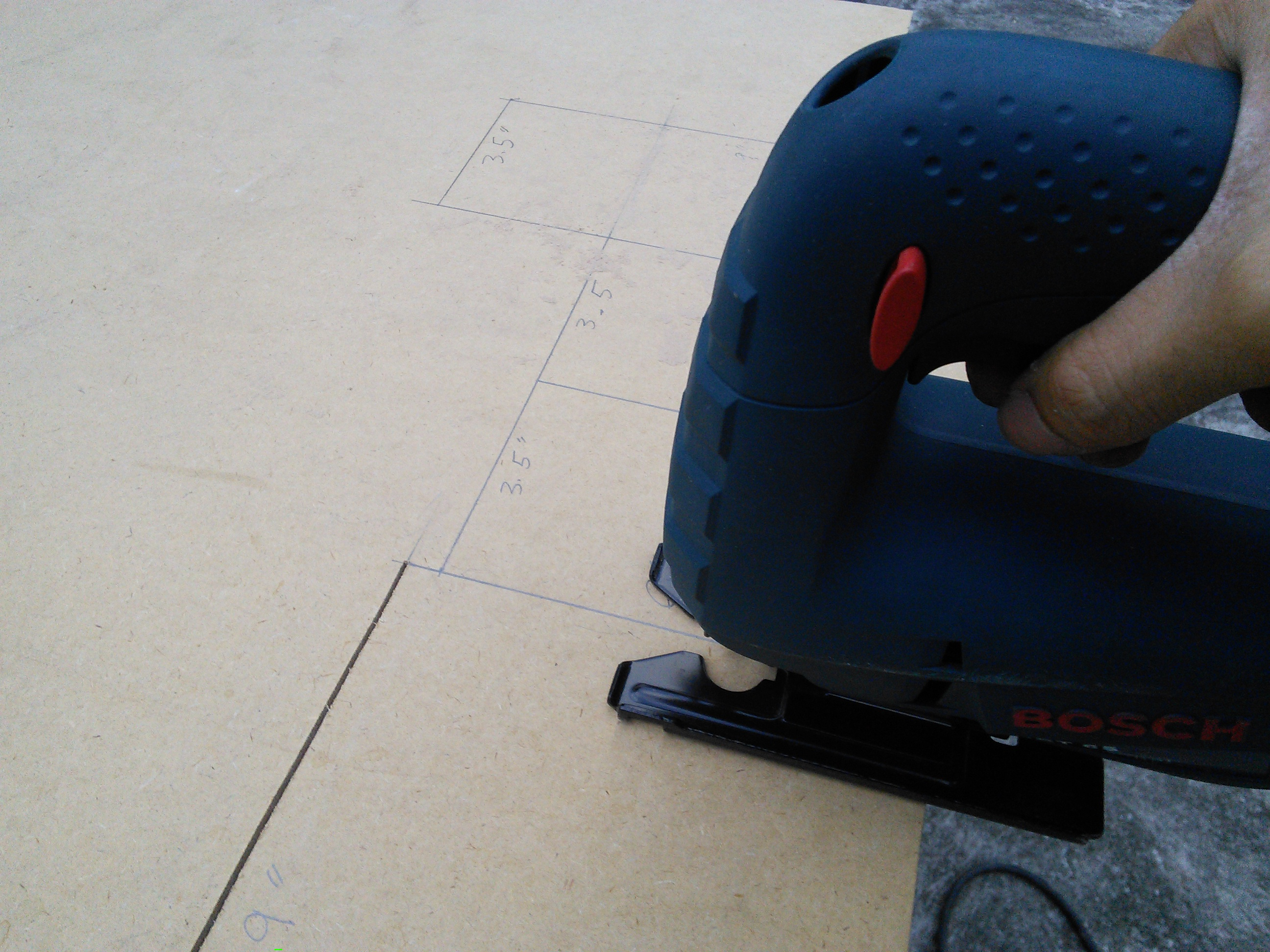 Picture of Cutting the Wood Panels