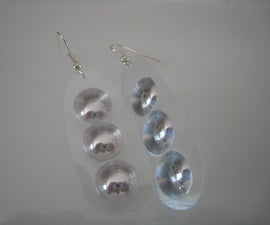 Fisheye Mirror Earrings From Marlboro Boxes