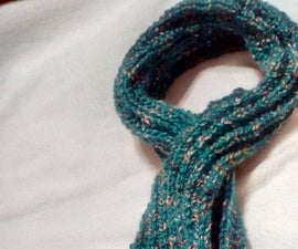 Key Hole Scarf With Bauble Edge