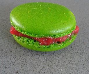 Watermelon Chervil French Macarons