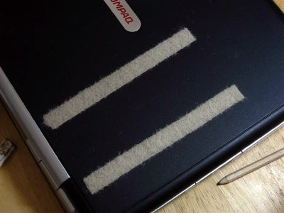 Attaching Velcro to the Back of the Laptop Screen