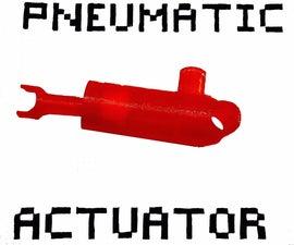 Pneumatic Actuators - 3D Printed, Air-powered Pushers