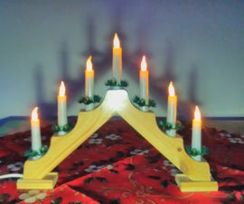 Christmas Decorations Using Flickering LED Candles