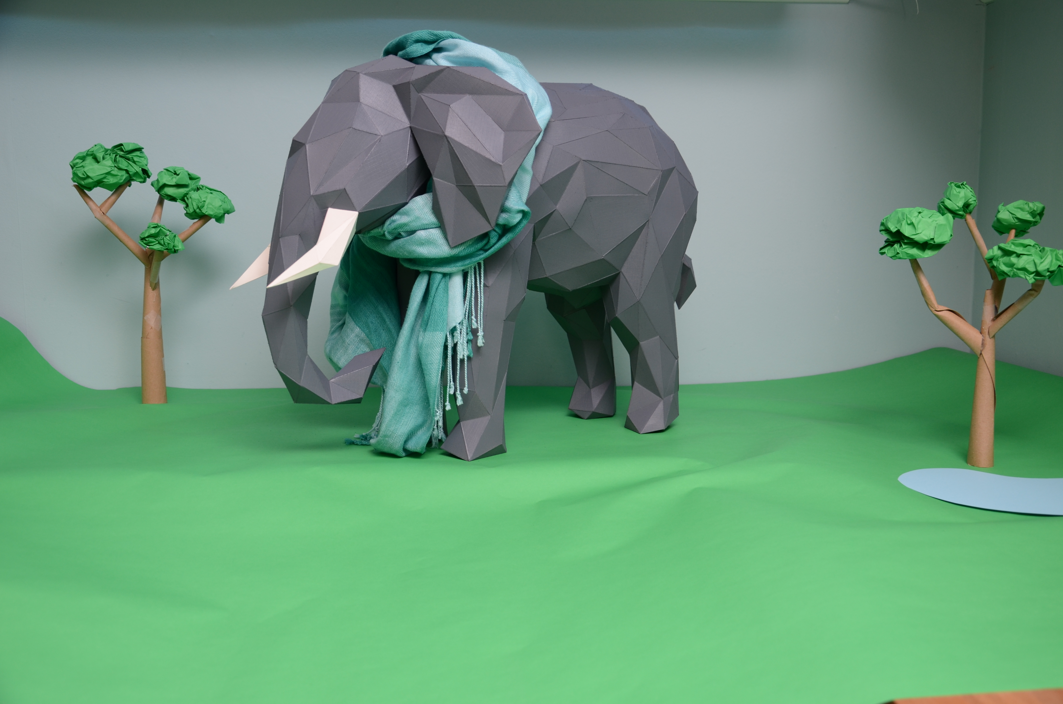 Picture of Low-Poly Paper Sculptures
