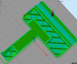 Change Infill Density in a Specific Section on a 3D Model for 3D Printing.