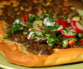 turkish pizza / pide / lahmacun