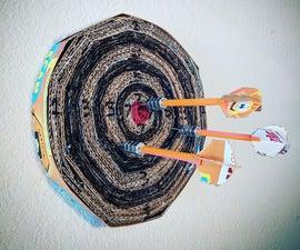 DIY Cardboard Dartboard