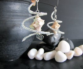 3-in-1 Wired sea shell spiral earrings