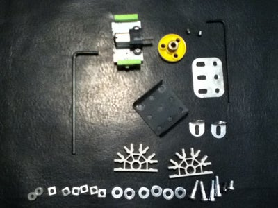Build the K'nex and Erector Set Hybrid Motor Mount for the LittleBits Motor