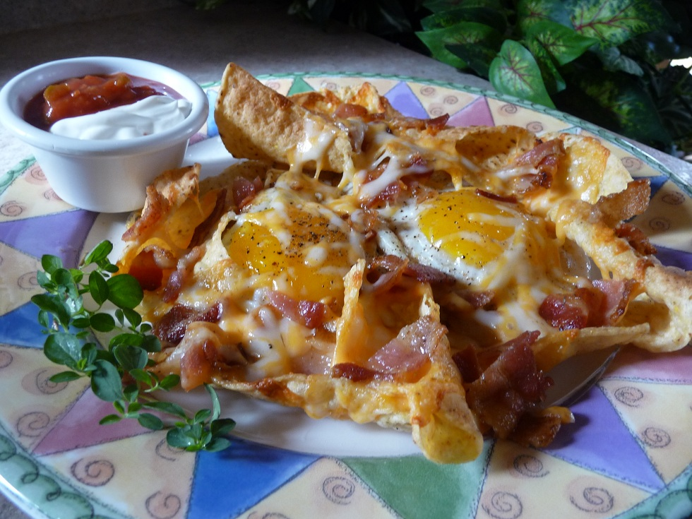 Picture of Sunny-Side-Up Breakfast Nachos