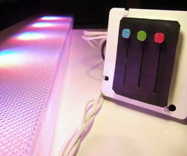 RGB Color Controllable High Power LED Room + Spot Lighting