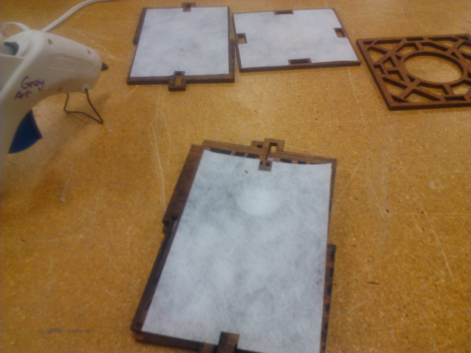 Picture of (OPTIONAL PART)  Glue Your Fabric to the Frame Panels.