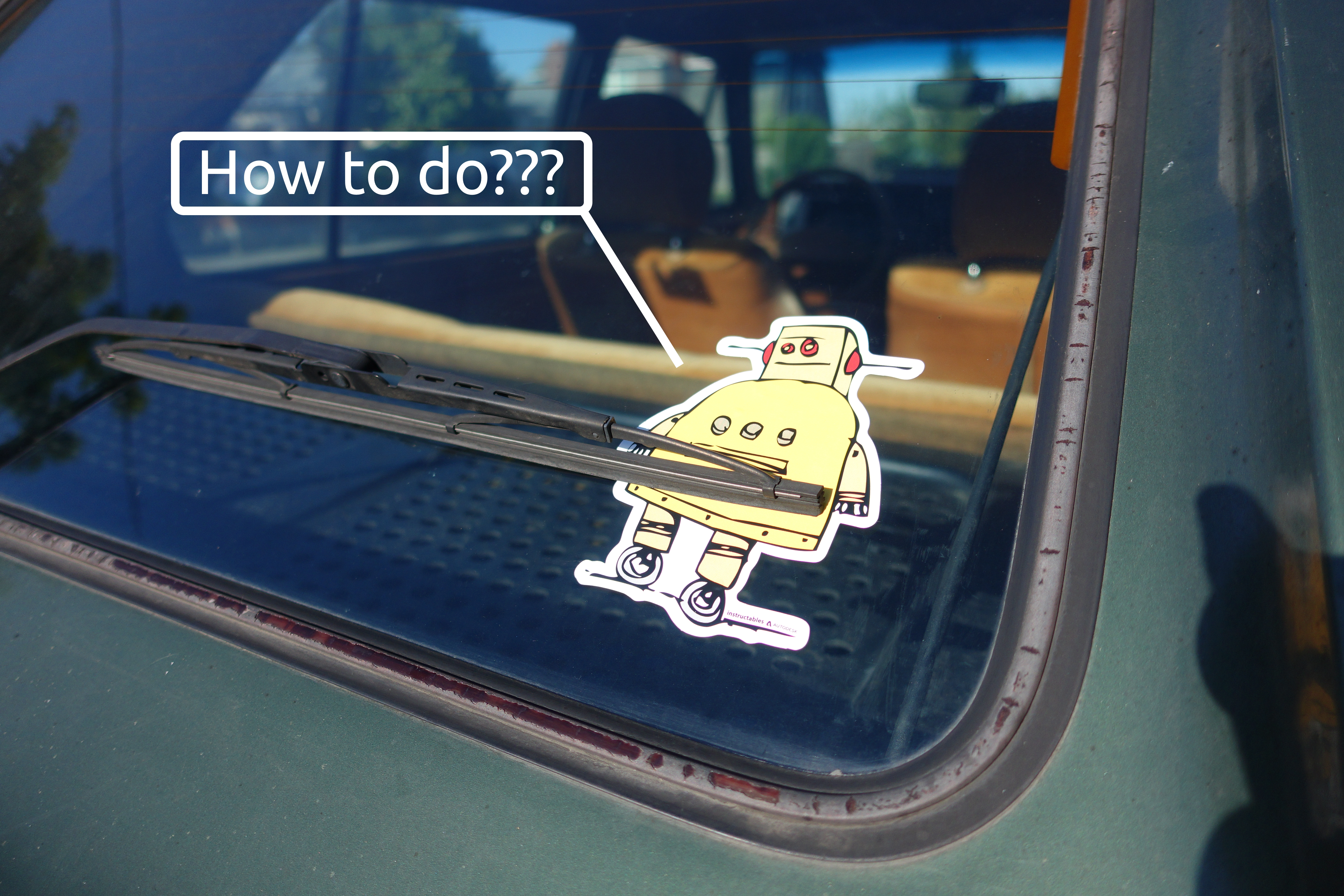 Picture of How to Apply a Bumper Sticker