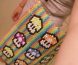 Pony Bead Mario Tote Bag