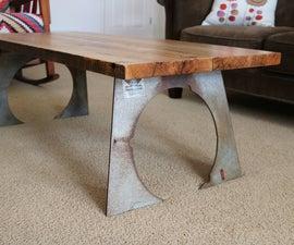 Industrial Scrap Coffee Table