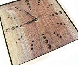 Handmade Walnut Clock