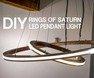Rings of Saturn LED Music Visualizing Pendant Light