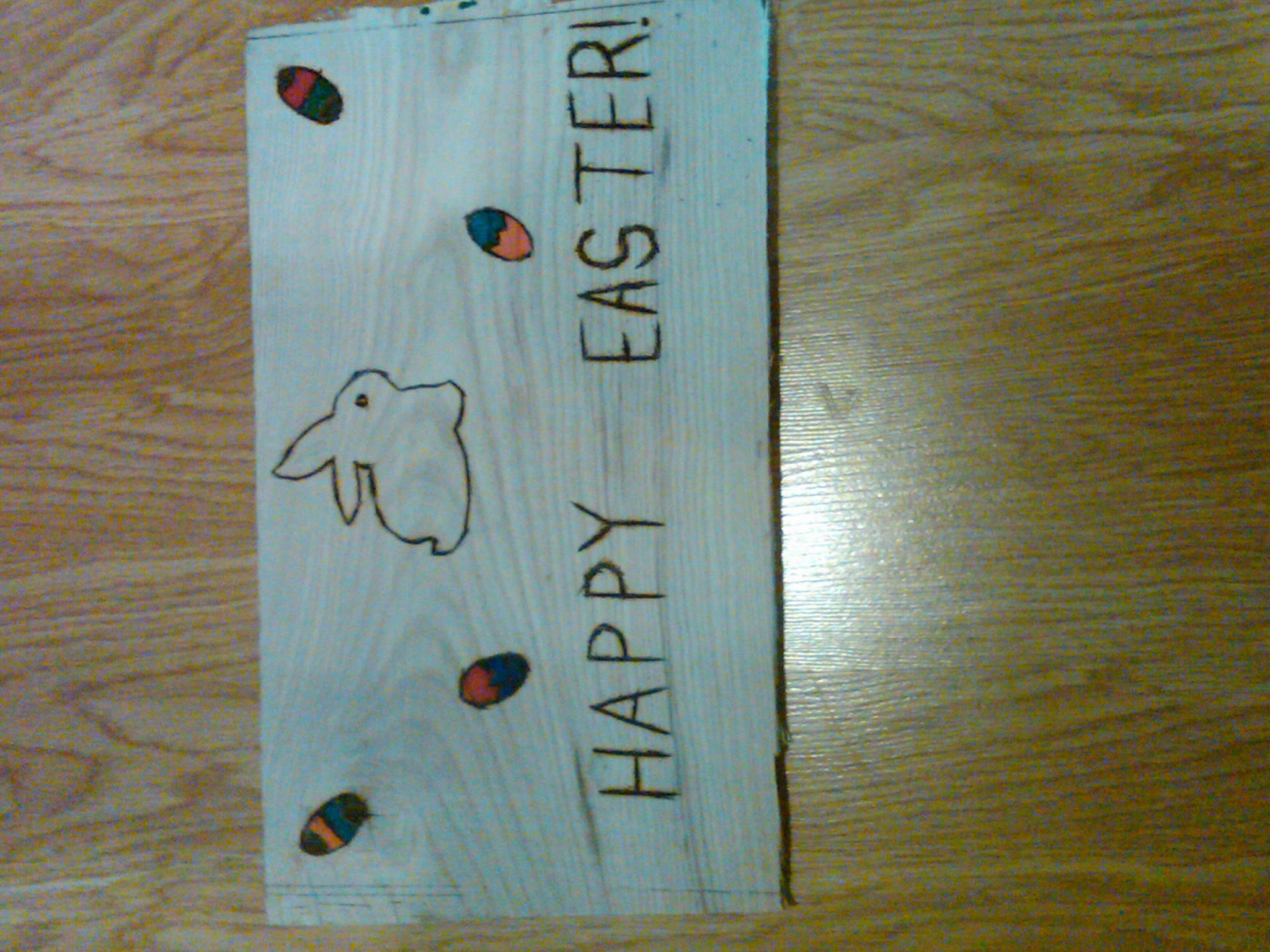 """Picture of """"Happy Easter"""" Sign"""
