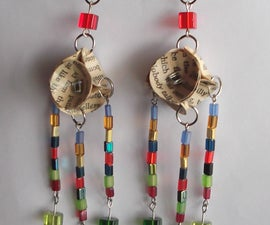 Book Bead Earrings