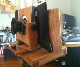 Build a 120 film view camera with movements and focus knob.