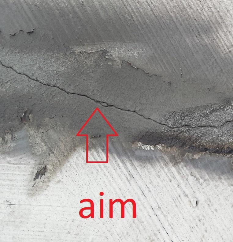 Picture of Crack Repair in Concrete Roof