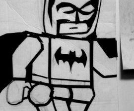 Duck tape lego batman wall art