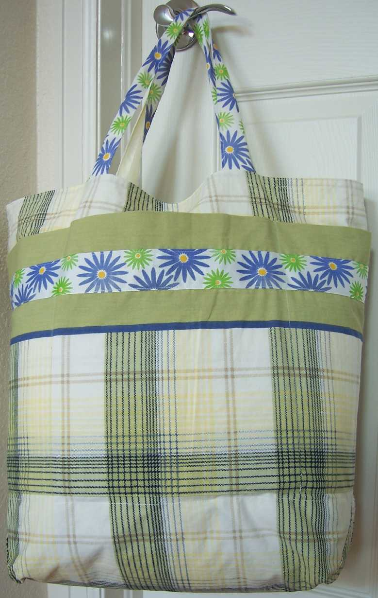 Picture of Easy Grocery Bag Shopping Tote From 2 Pillowcases