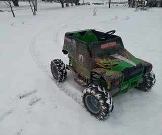 Converting 24v Grave Digger Power Wheels Into an Electric Go-kart With Rubber Tires