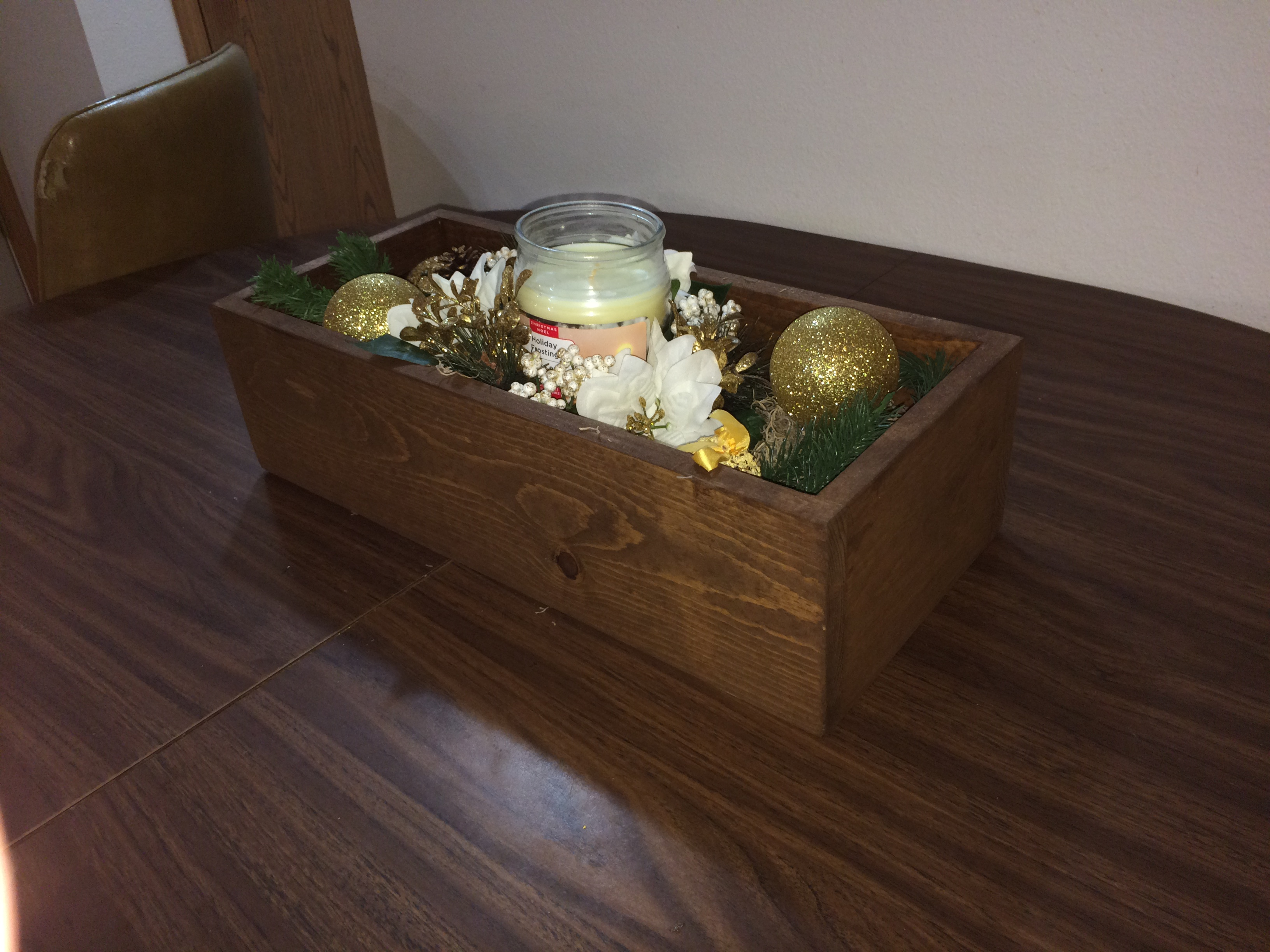 Picture of DIY Decorative Wooden Box Centerpiece