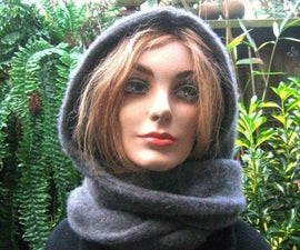 HOODIE SCARF IN 5 MINUTES FROM AN OLD SWEATER