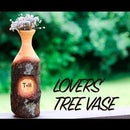 Lovers' Tree Vase - Personalized Woodturned Wedding Gift